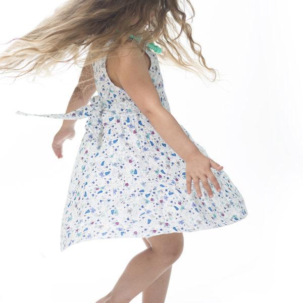 שמלת ליבי פרחונית כחולה