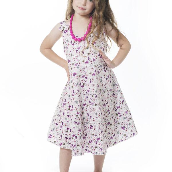 שמלת ליבי פרחונית סגולה