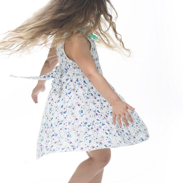 שמלת ליבי פרחונית כחולה-1793