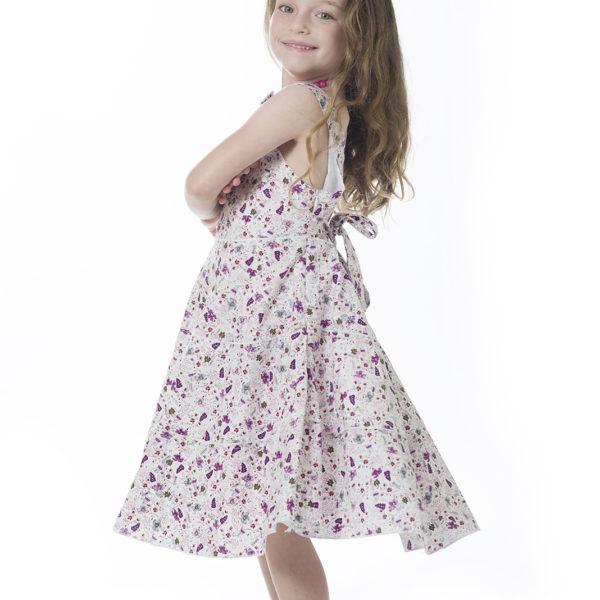 שמלת ליבי פרחונית סגולה-1799