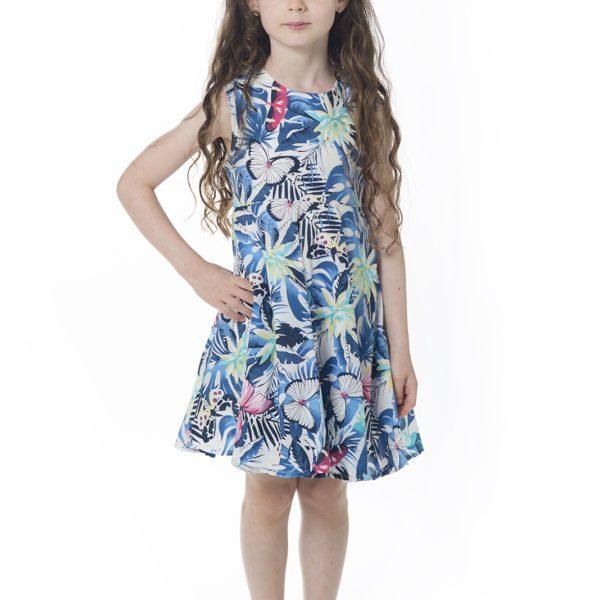 שמלת קרוסלה פרפרים-2079