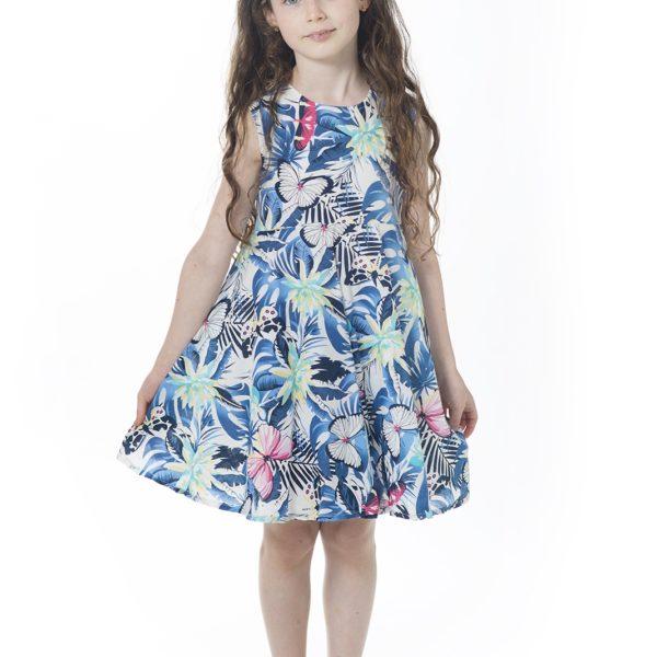 שמלת קרוסלה פרפרים-2078