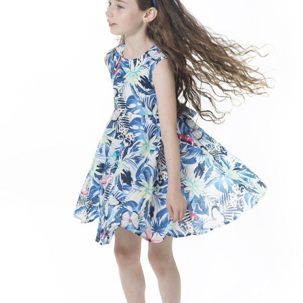 שמלת קרוסלה פרפרים-2081