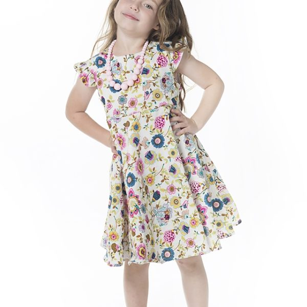 שמלת קרוסלה פרחי בר-2087