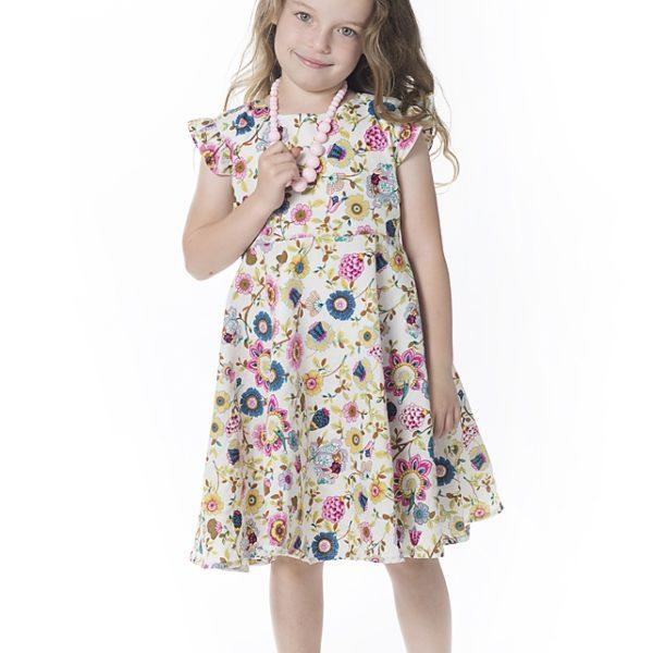 שמלת קרוסלה פרחי בר-2088