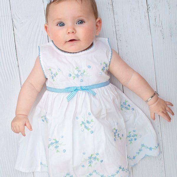 שמלה לבנה רקומה-2880