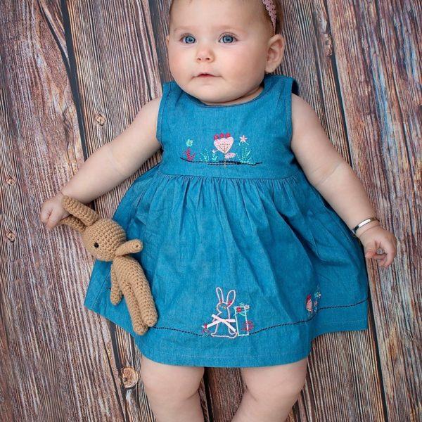 שמלת ג'ינס ארנב-2866