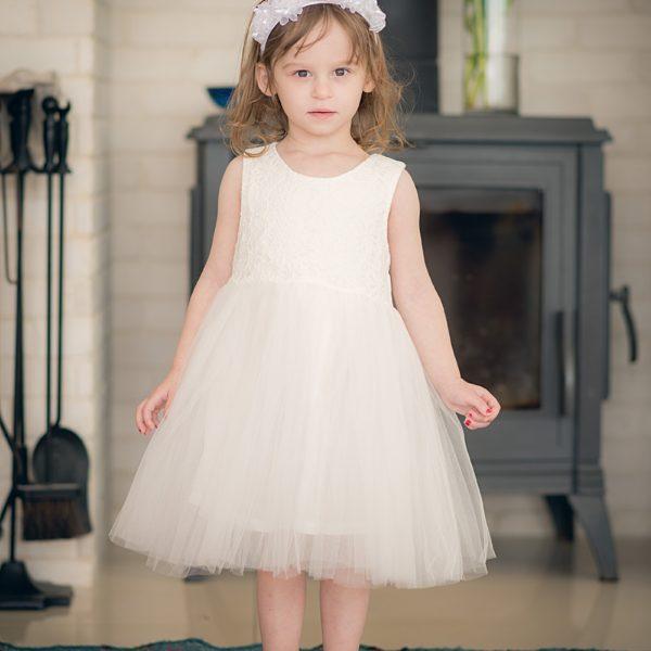 שמלת שושבינה אמיליה לבנה-0