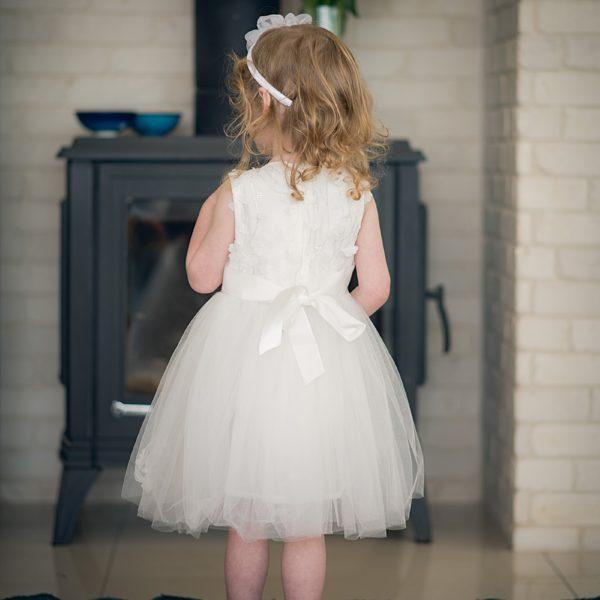 שמלת שושבינה עלים לבנה-2653