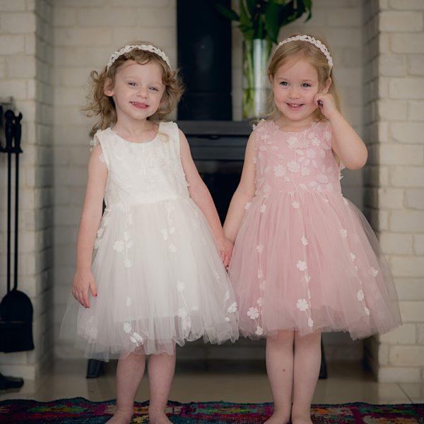 שמלת שושבינה עלים לבנה-2655