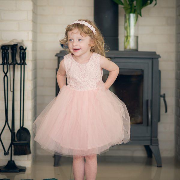 שמלת שושבינה אמיליה ורודה-0