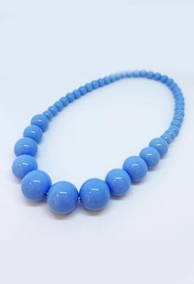 שרשרת חרוזים כחול מלכותי -0