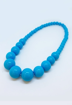 שרשרת חרוזים כחולה