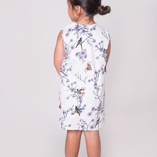 שמלת פרחים וציפורים-3168