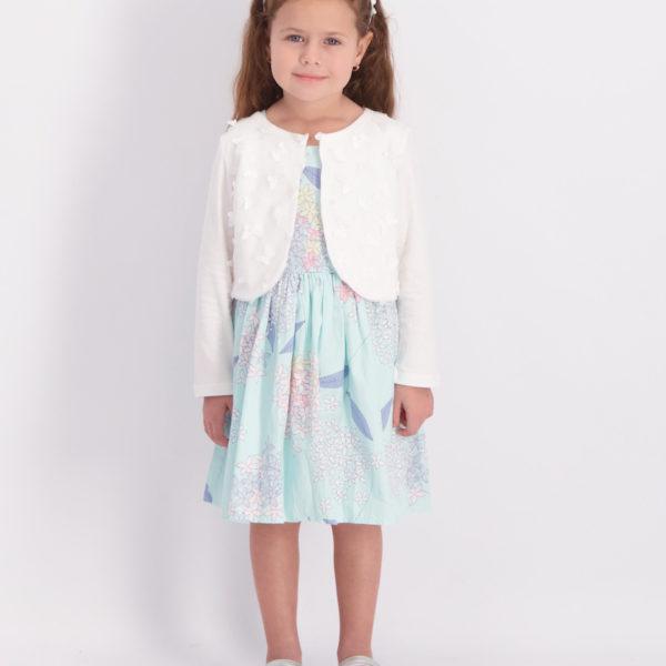 שמלת איה פרחונית טורקיז
