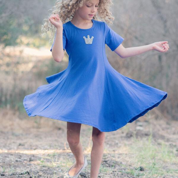 שמלת מיכל נייבי כתר כסף