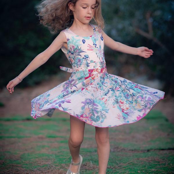 שמלת מיקה פרחונית