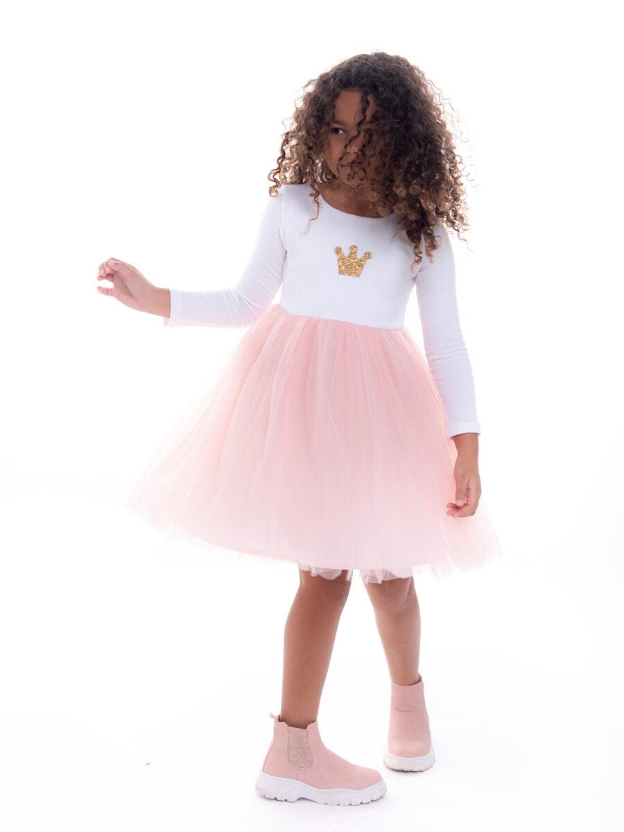 שמלת טול כתר זהב