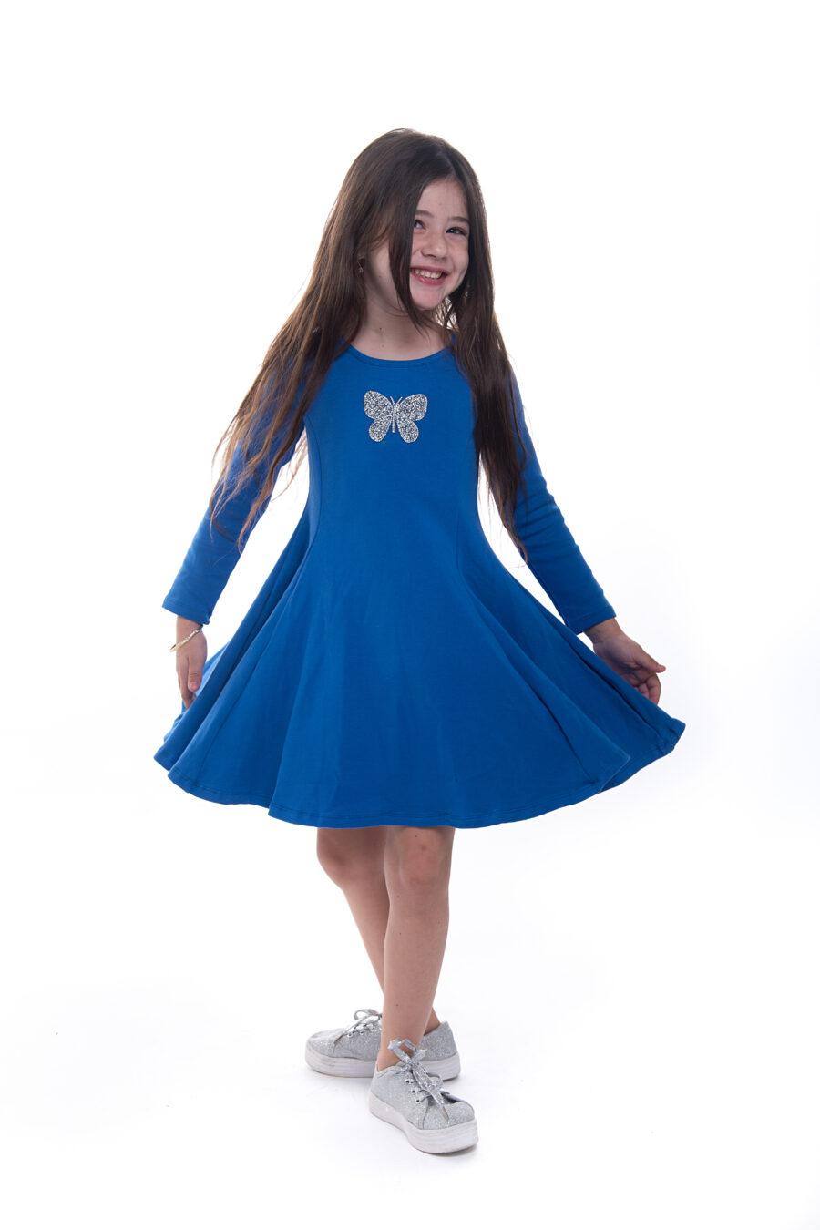 שמלת נטע פרפר נייבי