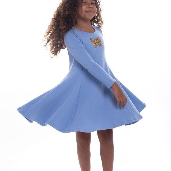 שמלת נטע פרפר כחולה