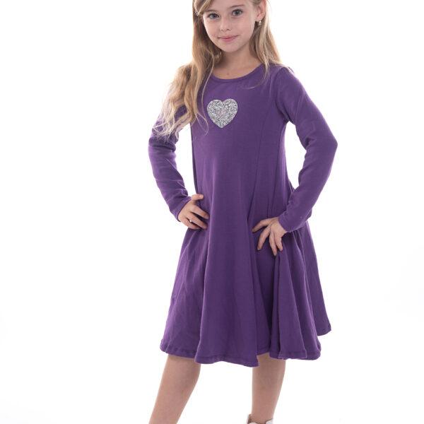 שמלת נטע לב סגולה