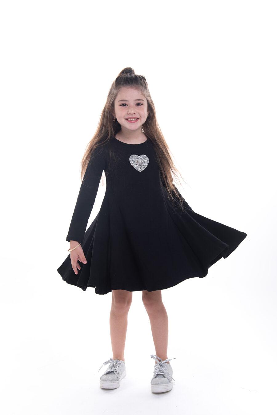 שמלת נטע לב שחורה