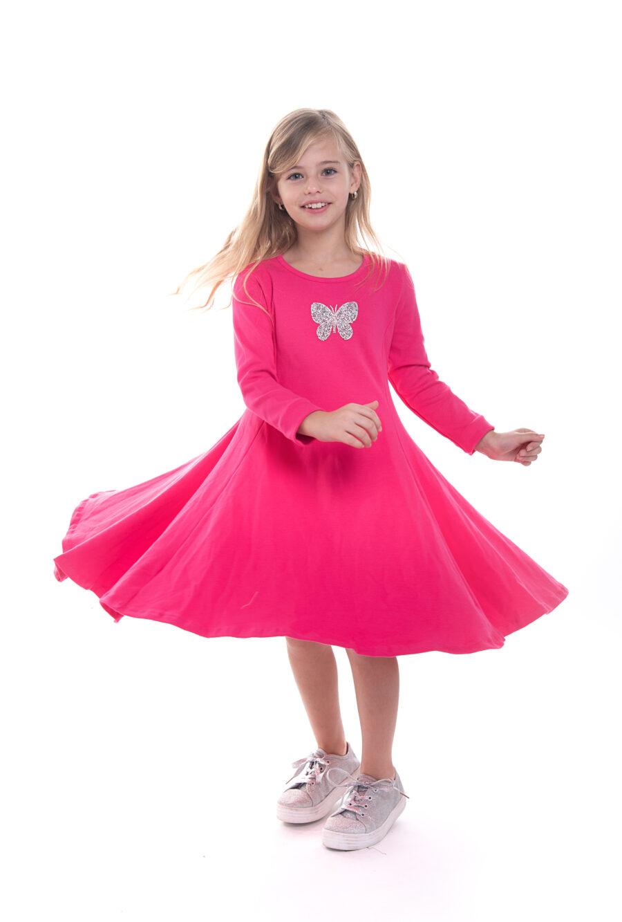שמלת נטע פרפר פוקסיה