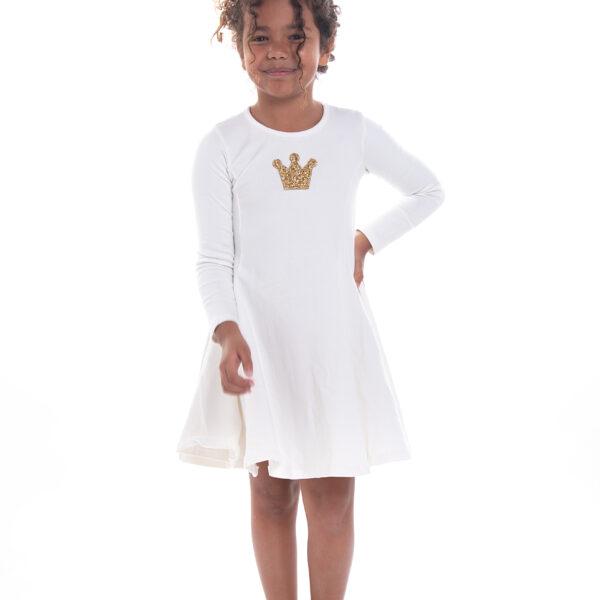 שמלת נטע כתר לבנה