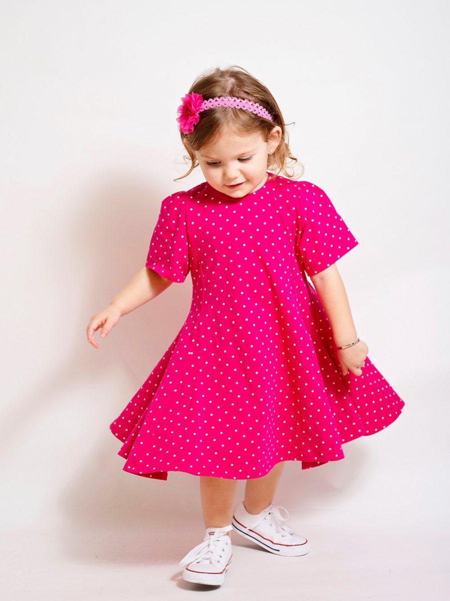 שמלת ענבר פוקסיה
