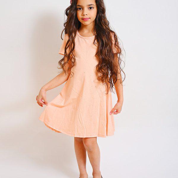 שמלת תותי אפרסק מנצנצת