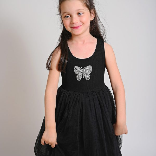 שמלת טול פרפר שחורה